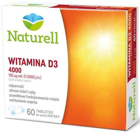 Witamina D3 4000j.m x 60 tabletek do ssania