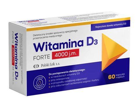 Witamina D3 Forte 4000 j.m. x 60 kapsułek